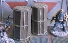 Upright Octagonal Containers