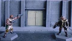 Wall with Lift/Elevator