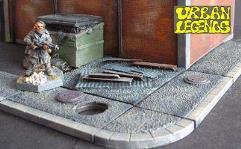 6cm Textured Footpath w/Manhole