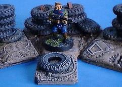 Single Tyre on Base