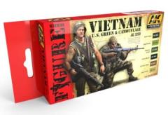 Vietnam U.S. Green & Camouflage Colors Set