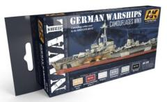 WWII German Warships Camouflages Colors Set