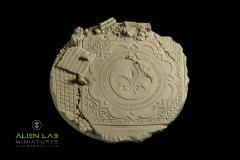 130mm Temple Ruins (Round Base)