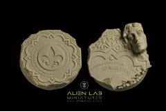 40mm Temple Ruins #2 (Round Base)