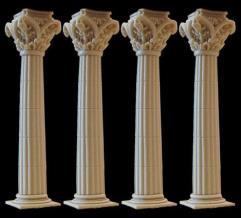 Fluted Column Set