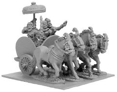 Indian General's 4-Horsed Chariot w/4 Crew