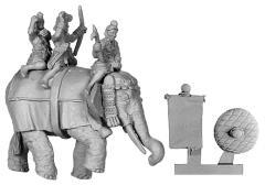 Indian Elephant w/4 Crew
