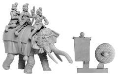 Indian General's Elephant w/4 Crew