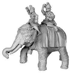 Hellenistic Elephant w/Crew Astride #1