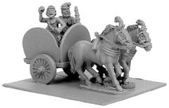 Indian 2-Horsed Chariot w/Crew