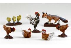 Chickens & a Fox