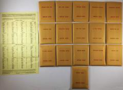 APBA Baseball 1934 Player Cards - Complete Set (1981 Printing)