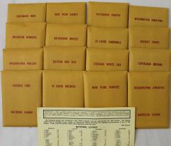 APBA Baseball 1953 Player Cards - Complete Set