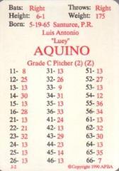 APBA Baseball 1989 Player Cards - Complete Set (1990 Printing)