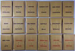 APBA Football 1971 Player Cards