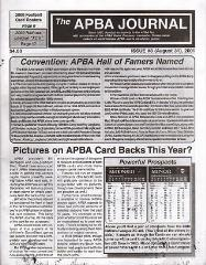 "#3 ""2000 Football Card Rosters, Fielding One Review, Pitching Grade Values in Basic APBA"""