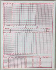 APBA Baseball Record Sheet Pad