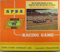APBA American Saddle Racing Game (1981 Season)