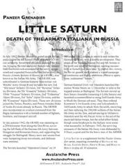 Little Saturn - Death of the Army Italiana in Russia