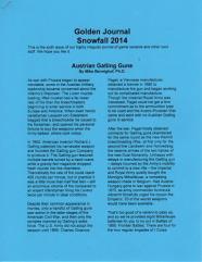 Snowfall 2014 w/Austrian Gatling Guns