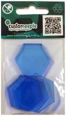 30mm Acrylic Bases - Blue