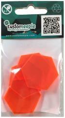 30mm Acrylic Bases - Orange