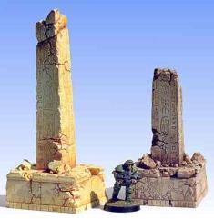 Ruined Egyptian Obelisks