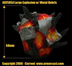 Large Explosion w/Metal Debris