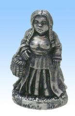 Dwarf Woman w/Basket