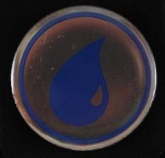 Pin - MtG Blue Mana