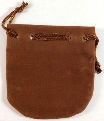 Small Felt Pouch (Dark Brown)