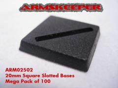 20mm Square Slotted Bases