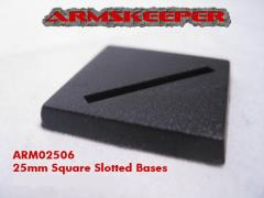 25mm Square Slotted Bases