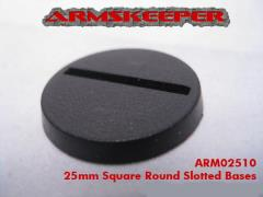 25mm Round Slotted Bases