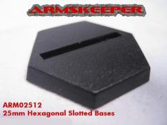 25mm Hexagonal Slotted Bases