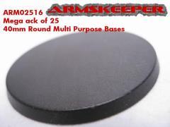 40mm Round Multi-Purpose Bases