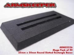 25mmx50mm Slotted Rectangle Bases
