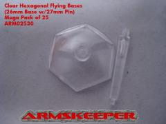 Hexagonal Flying Bases - Clear