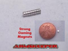 "1/16"" x 1/32"" Strong Gaming Magnets - Small (8)"