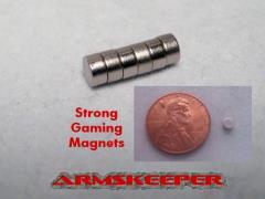 "1/8"" x 1/16"" Strong Gaming Magnets - Medium (6)"