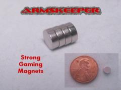 """3/16"""" x 1/16"""" Strong Gaming Magnets - Large (4)"""