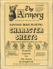 Armory Character Record Sheets