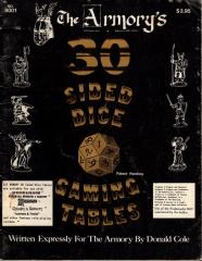 30 Sided Dice Gaming Tables
