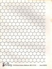 "3/4"" x 3/4"" Hex Map - 34"" x 44"""