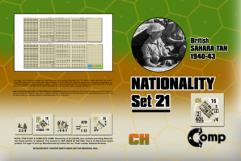 Nationality Set #21 - British Sahara Tan North Africa 1940-43