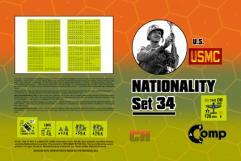 Nationality Set #34 - U.S. USMC