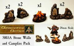 Stone Walls and Campfire Pack