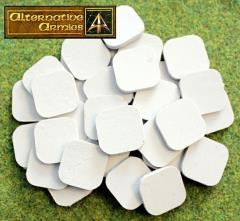 25mm Square Cartouche Bases