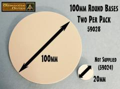 100mm Round Resin Bases