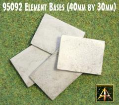 40x30mm Square Metal Element Bases